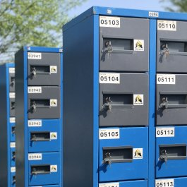 Sleutel lockers blue