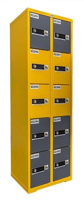 Elektronic locker geel